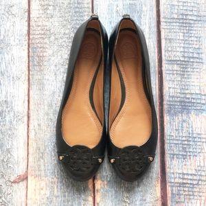 Tory Burch Mini Miller Black Ballet Flat 8.5 NWOT